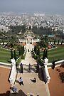 The Bahai gardens Haifa Israel by Moshe Cohen