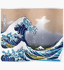 Great Wave of Kanagawa Wall Tapestry Vectorized HD High Quality Poster