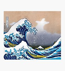 Great Wave of Kanagawa Wall Tapestry Vectorized HD High Quality Photographic Print