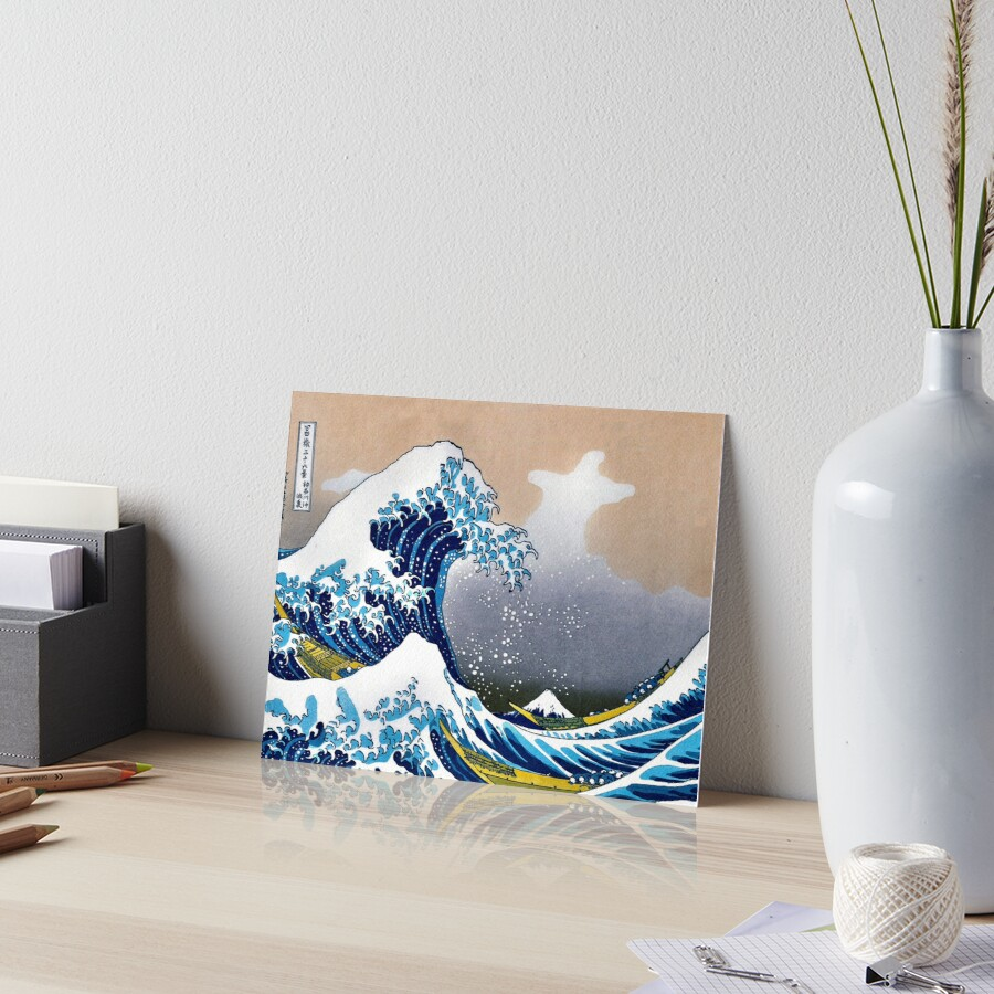 Great Wave Off Kanagawa By Hokusai Wall Tapestry Vectorized Hd