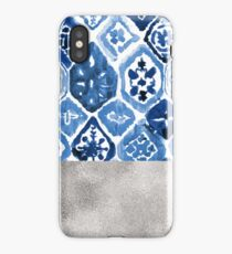 Arabesque tile art - silver graphite iPhone Case