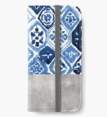 Arabesque tile art - silver graphite iPhone Wallet/Case/Skin
