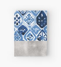 Arabesque tile art - silver graphite Hardcover Journal