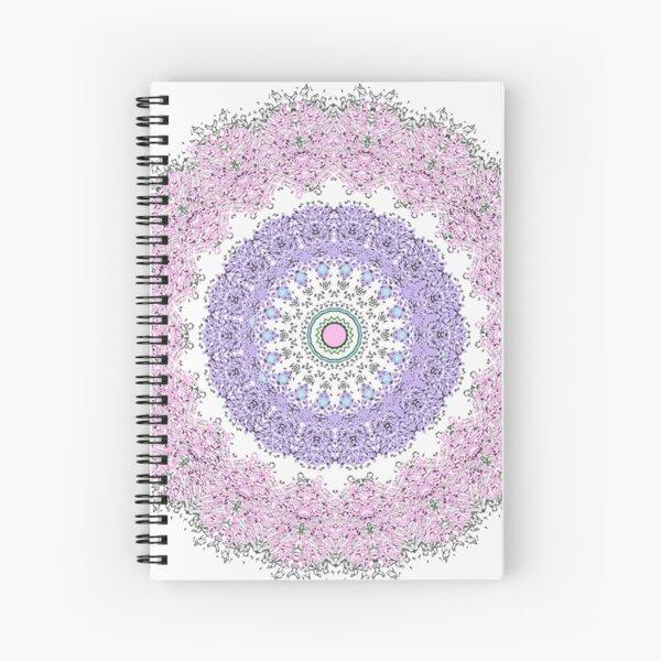 Boho - Mandala - Hippie - Pastels - Floral  Spiral Notebook