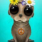 Niedlicher Baby-Seelöwe-Hippie von jeff bartels