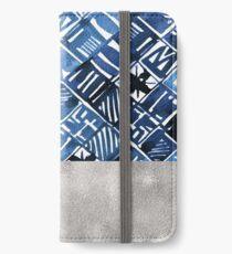 Arabesque tile art ii - silver graphite iPhone Wallet/Case/Skin
