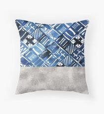 Arabesque tile art ii - silver graphite Throw Pillow