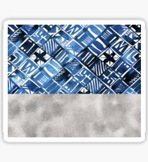 Arabesque tile art ii - silver graphite Sticker