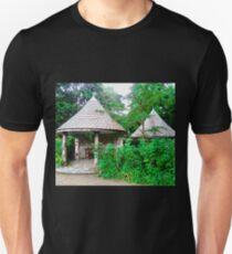 Gazebos in the garden at Glenveagh Castle, Donegal, Ireland Unisex T-Shirt