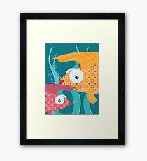 Ornate tropical fish Framed Print
