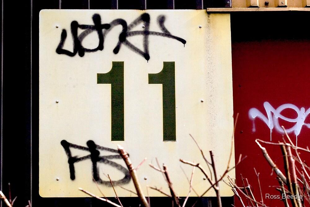 No, 11  & graffitti by Ross Beedle