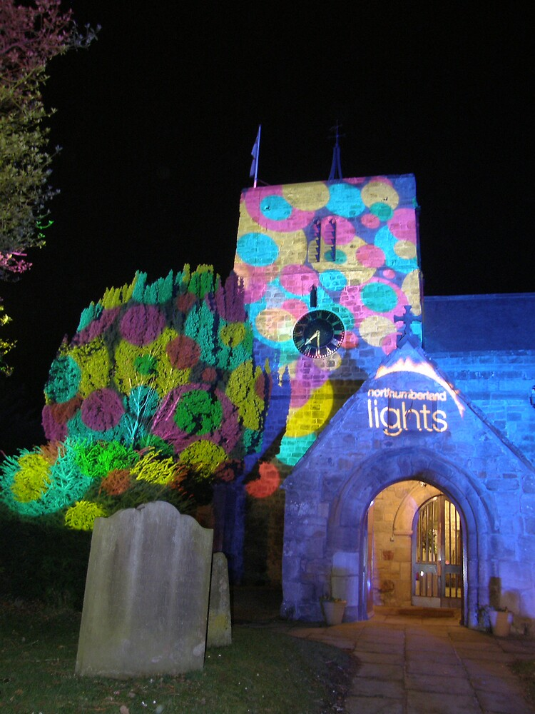 Our Parish Church, illuminated by Northumberland Lights by jay12