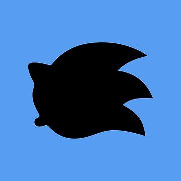 Sonic the Hedgehog Symbol - Super Smash Bros. (black) by hopperograss
