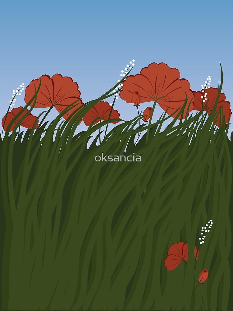 Summer flowers on a field by oksancia