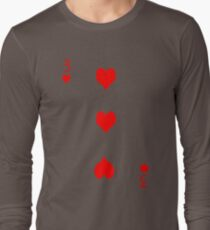3 of Hearts Long Sleeve T-Shirt