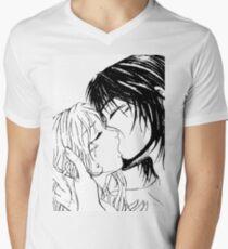 Le baiser T-shirt col V homme
