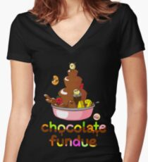 Fondue Fun Women's Fitted V-Neck T-Shirt