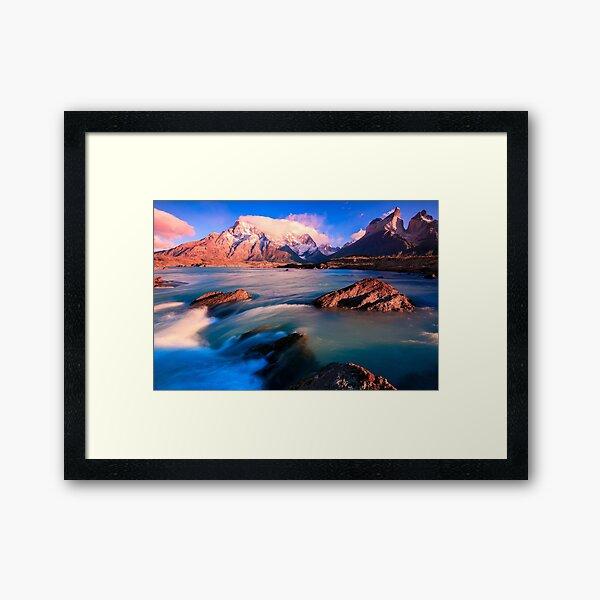 Light over wild water Framed Art Print