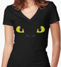 The Last Night Fury Women's Fitted V-Neck T-Shirt