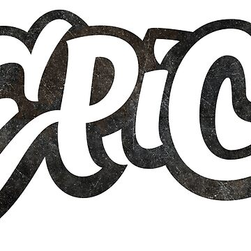 EPIC Lettering - Graffiti Style on White by 26-Characters