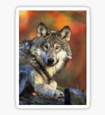 AUTUMN WOLF Sticker