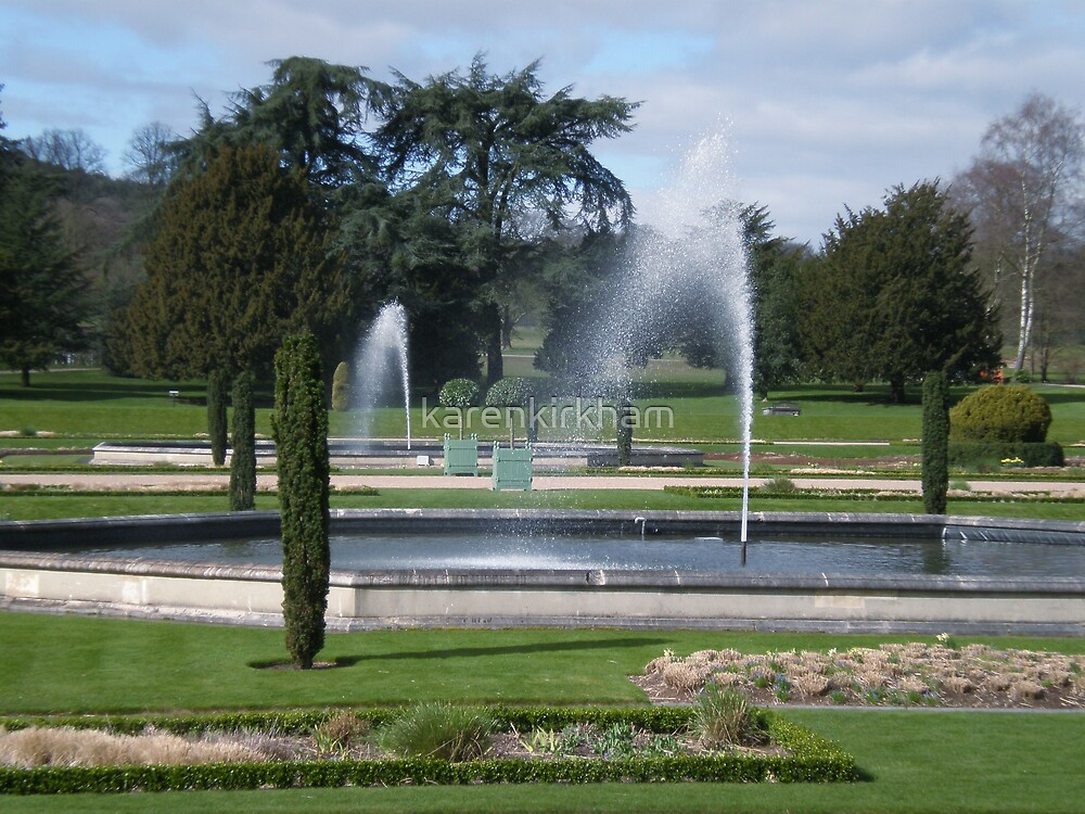 Fountains at Trentham by karenkirkham