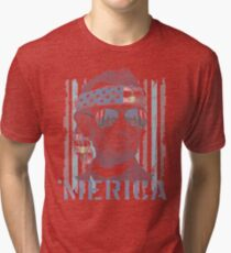 Hipster Abraham Abe Lincoln Freedom 'Merica Tri-blend T-Shirt