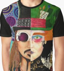 Johnny Depp Character Collage Graphic T-Shirt