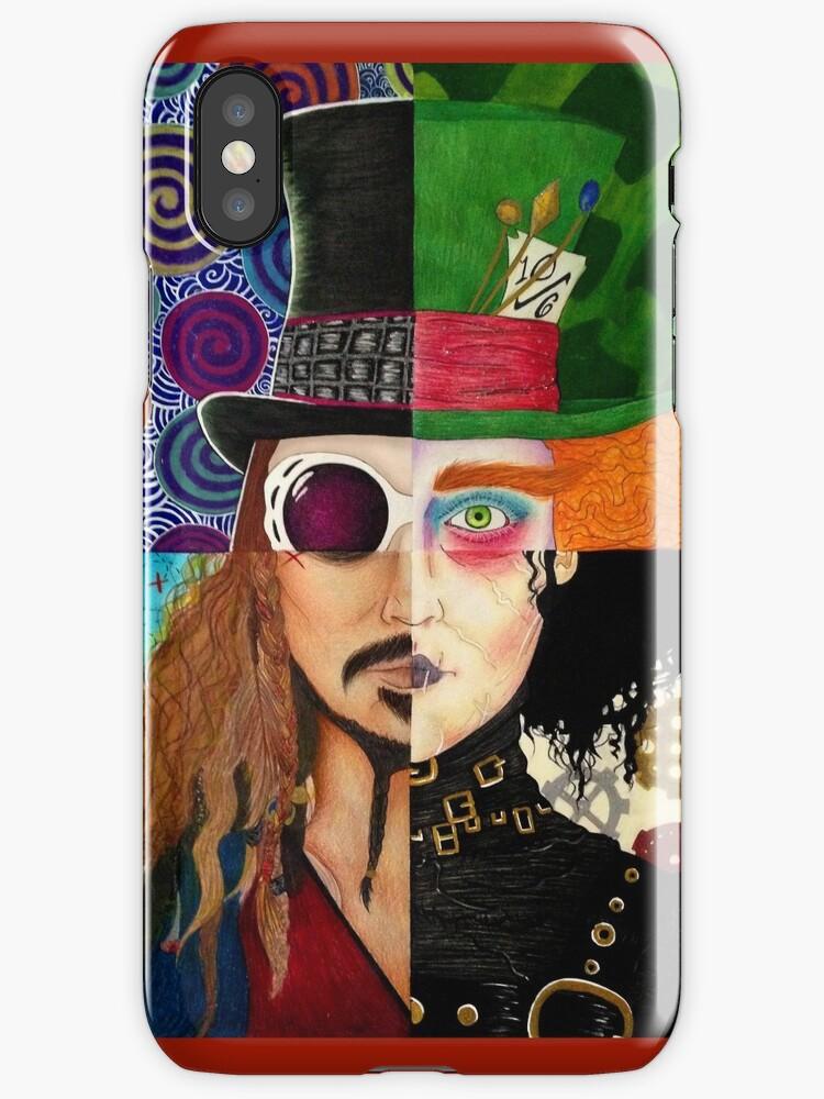 Johnny Depp Character Collage by Vanessa Delgado