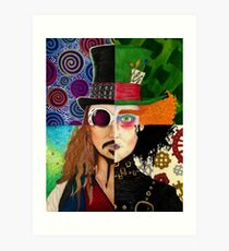Johnny Depp Character Collage Art Print
