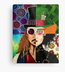 Johnny Depp Character Collage Metal Print