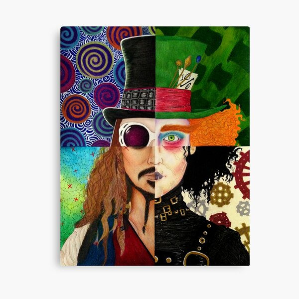 Johnny Depp Character Collage Canvas Print