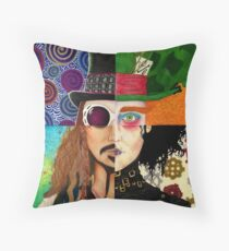 Johnny Depp Character Collage Throw Pillow