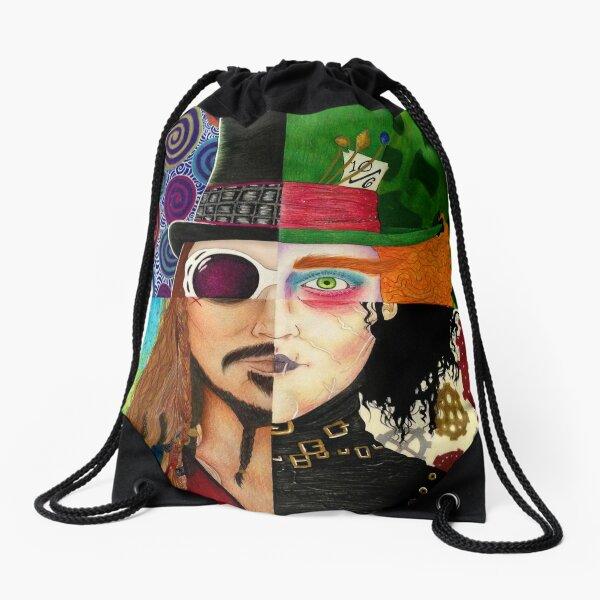 Johnny Depp Character Collage Drawstring Bag