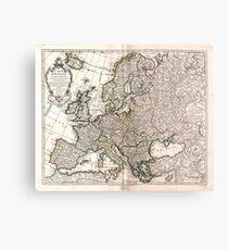 Carte d'Europe (Map of Europe) 1769 Metal Print
