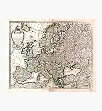 Carte d'Europe (Map of Europe) 1769 Photographic Print
