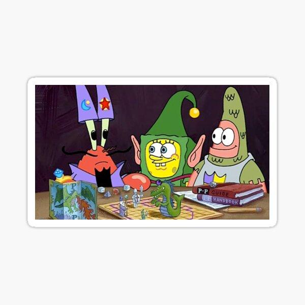 Dunces and Dragons Spongebob Sticker