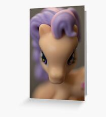 """Hearts In Her Eyes"" Pony Portrait Greeting Card"