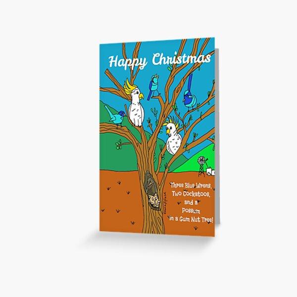 Australian Wildlife Christmas Outback Aussie Festive Xmas Greeting Card
