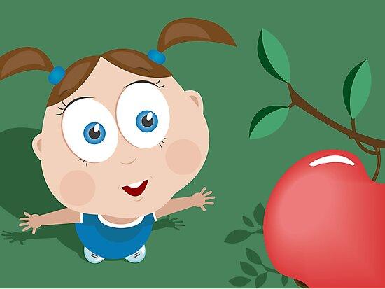 Girl wants an apple! by oksancia