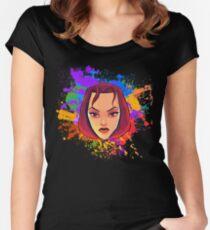 Old-school Lara | Lara Croft, Tomb Raider  Women's Fitted Scoop T-Shirt