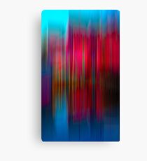 Red and Blue Reflection Canvas Print