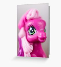 Stars In Her Eyes Pony Portrait Greeting Card