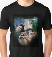 Three Sparrow Nestbox T-Shirt