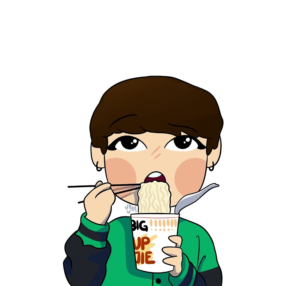 Jungkook eats ramen by poorbaepsae