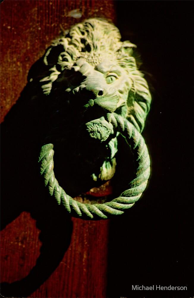 Lion Door Knocker in Venice by Michael Henderson