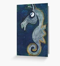 Fisshu Seahorse Greeting Card