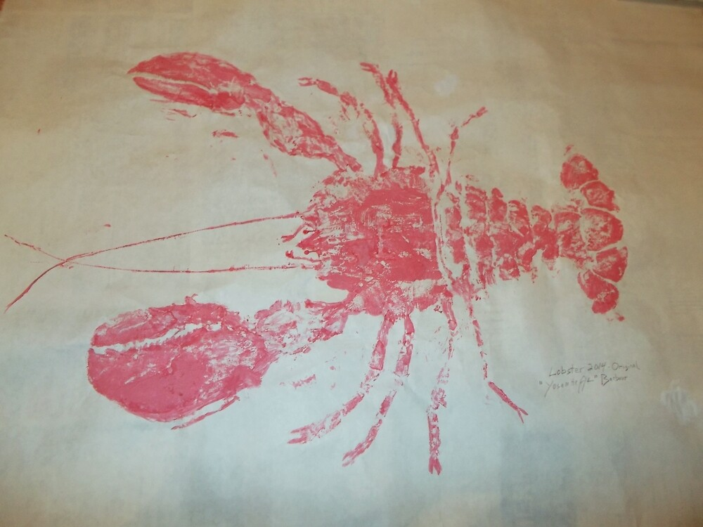 Lobster Rubbing (Gyotaku) by alan barbour