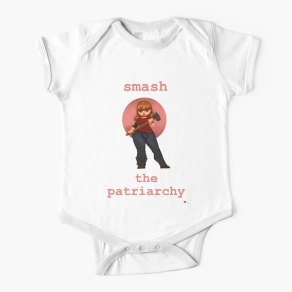 Smash the Patriarchy Short Sleeve Baby One-Piece