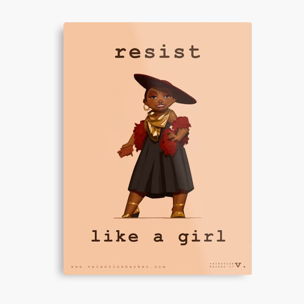 Resist Like a Girl Metal Print